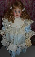 Camelot - QVC - Porcelain Doll - 20 inch doll - Blonde - Blue Eyes - Open mouth