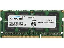 Crucial 8GB 204-Pin DDR3 SO-DIMM DDR3L 1600 (PC3L 12800) Laptop Memory Mode