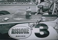 Bobby Unser SIGNED Indianapolis Raceway 12x8 Photo AFTAL COA Autograph