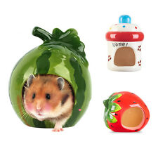 Watermelon Pet Hamster Cool Bed Ceramic House Nest Mouse Guinea Pig Hedgehog