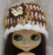 Handmade Crochet HAT for BLYTHE Dolls #03 w/Butterfly Multicolored CAP