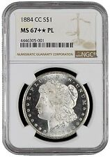 1884-CC $1 Morgan Silver Dollar NGC MS67+✯PL Star Star Highest In Proof Like