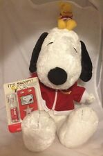 "Peanuts Snoopy And Woodstock 17"" Macy's 2006 Holiday Plush And Radio Complete"