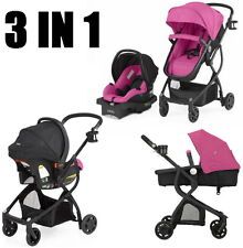 Baby Stroller Car Seat 3in1 Berry Travel System Infant Carriage Buggy Bassinet