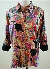 Lauren Ralph Lauren Size 16 W Paisley Shirt Top Peplum