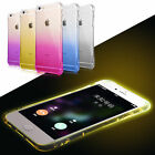 2016 Clear LED Light TPU Silicone Cover Case For Apple iPhone 6 6S Plus