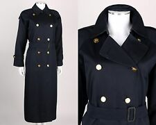 BURBERRY BURBERRYS BLUE DOUBLE BREASTED TRENCH COAT REMOVABLE LINER 10 XXLONG