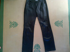Halogen Soft Smooth Lambskin Black Leather Pants Size 6