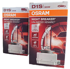 OSRAM D1S NIGHT BREAKER UNLIMITED Xenarc Xenon Brenner +70% 2 Stk. 66140XNB