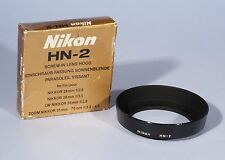Nikon HN-2 Lens Hood * For 28mm f/2.8, 28mm f/3.5mm 35-70mm * Boxed & Excellent+