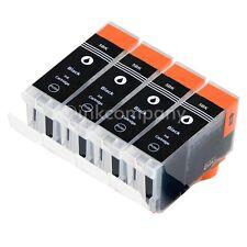 4 cartuchos para pgi5 BK + chip XL Canon ip3300 ip3500 ip4200x ip4300 mx850 ip4500x