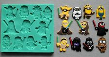 Silicone Mould STAR WARS MINIONS Sugarcraft Cake Decorating Fondant / fimo mold
