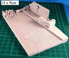 Milicast DBS05 1/76 Resin Cobbled-stone road section with debris, pavement, etc