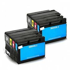 2 Full Sets 8 ink cartridges HP932XL 933XL HP Officejet 6100 6600 6700 Printers