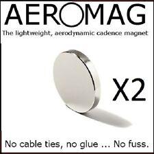 X2 PEDALE magnete della cadenza (Cycle) per Garmin Edge 510 810, Sigma, Polar, Cateye x2