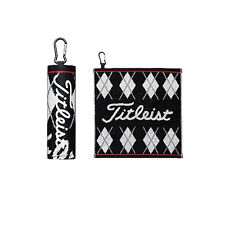 Titleist JAPAN Golf Hand Towel with hook Black AJTWH51 2016 New