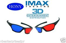 2 x Hony 3D Glasses Red Blue Anaglyph for 3D Movie Game DVD Black Frame