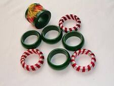 EIGHT ASSORTED CHRISTMAS NAPKIN RINGS