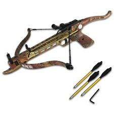 COBRA MINI 80 LB CAMO ARCHERY HUNTING Gun METAL PISTOL CROSSBOW W/ BOLTS ARROWS