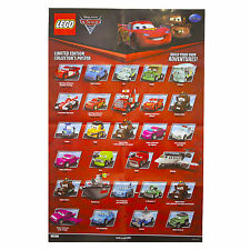 Disney Cars 2 Movie Poster Decor Pixar Print Art Wall Lego Figures Kids PRE355