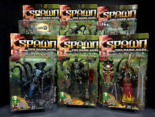 1999 MCFARLANE TOYS SPAWN SERIES 14 THE DARK AGES 2 6 FIGURE SET MANDARIN SPAWN