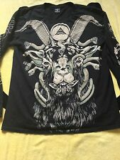 DROP DEAD CLOTHING SEVEN HELLS TOP LONG SLEEVE MEDIUM M MENS WOMEMS UNISEX