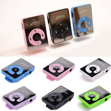 Fashion Mini Mirror Clip USB Digital Mp3 Music Player Support 8GB SD TF Card