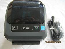 Zebra ZP 450 Label Thermal Printer USB Latest Version