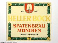 1960s Germany Spatenbrau heller Bock Bier Beer Label Tavern Trove