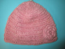 NEW✿ D N Y LADIES HAT BEANIE SKULL Cap Dusty Pink OSFA Flower