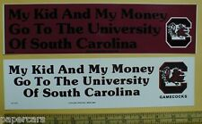 University of South Carolina USC Gamecocks bumper stickers decals 2 pcs in lot