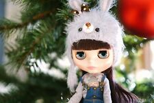 Blythe Neo Doll Animal Rabbit winter hat - Hand made