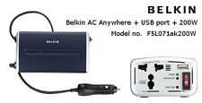 Belkin AC Anywhere_USB Port+200W-F5L071AK200W Car Charger