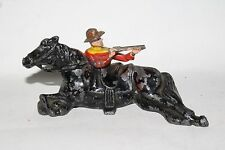 Johillco Vintage Lead Figure,  (J110) 904C Cowboy Firing From Behind Horse
