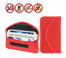 Cell Phone Anti-tracking Anti-spying GPS Rfid Signal Blocker Pouch Case Bag red
