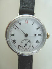 Silver Trench watch WW1 Era  Super Military Service.
