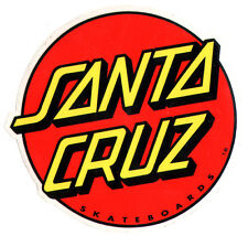 Santa Cruz Red Dot Skateboard Sticker - skate snow surf board skateboarding 9cm
