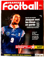 FRANCE FOOTBALL 9/09/1997; Equipe de France/ Bastia/ Mondial 98/ Dugarry