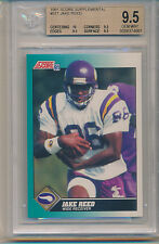 1991 Score Jake Reed (Rookie Card) (#91T) (10 Centering/3-9.5's) BGS9.5 BGS