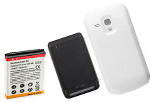 4000Mah Extended Battery + Cover + Charger for Samsung Galaxy S3 Mini i8190 Wte