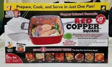 Red Copper Non-Stick Square Ceramic Cookware 5 Piece Set Pans As seen on TV New