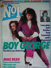 NO 1 (NUMBER ONE) MAGAZINE 26/5/84 - BOY GEORGE - LIMAHL - MADNESS