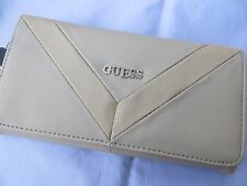 NWT GUESS FIRESIDE CHEVRON  Wallet Purse Handbag Bag Beige