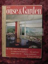 HOUSE & GARDEN May 1956 FOR THE YOUNG FAMILY