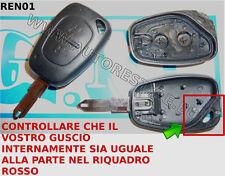 Llave mando carcasa cubierta RENAULT LAGUNA MEGANE TWINGO TRAFICO 2 botones