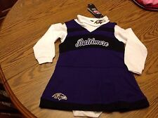 Baltimore Ravens NFL, 24 Month Cheerleading outfit 2 piece