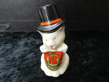 Carlton China Model of Cat with Top Hat - Folkestone Crest