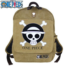 Anime One Piece Luffy Canvas Backpack School Bag Outdoor Fashion teenagers Gift