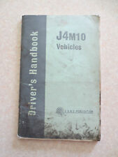 Original 1960s BMC J4M10 van and pick-up owner's manual