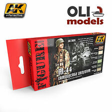 Figure Series GERMAN M-44 CAMOUFLAGE UNIFORM Set 6x17ml AK Interactive 3020